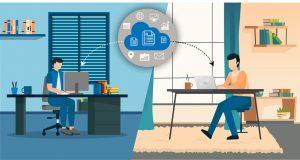 hybrid working environment